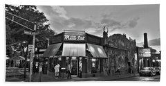 The Middle East In Central Square Cambridge Ma Black And White Beach Towel