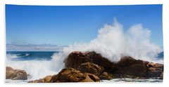 The Might Of The Ocean Beach Sheet by Jorgo Photography - Wall Art Gallery