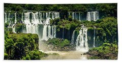 Beach Towel featuring the photograph The Mighty Iguazu  by Andrew Matwijec