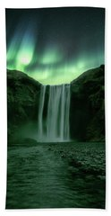 The Mighty Skogafoss Beach Towel