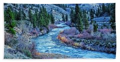 The Mighty Truckee Beach Towel by Nancy Marie Ricketts