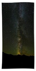 The Milky Way At Sprague Lake 2 Beach Towel by Tim Stanley