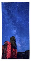 The Milky Way Over The Crest House Beach Towel