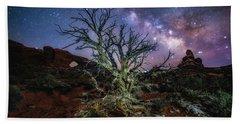 The Milky Way Tree Beach Towel