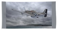 The Mission - P51 Over Dover Beach Towel