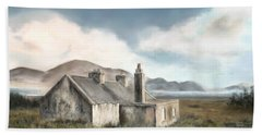 The Mist Of Moorland Beach Towel by Colleen Taylor