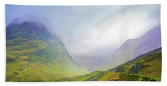 The Mists Of Rannoch Moor Beach Towel
