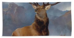 The Monarch Of The Glen Beach Towel