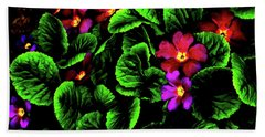 Beach Sheet featuring the digital art The Moody Primrose by Steve Taylor