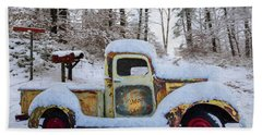 The Moonshiners Oil Painting Beach Towel