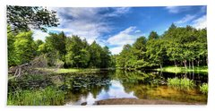 Beach Towel featuring the photograph The Moose River At Covewood by David Patterson