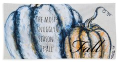 Beach Towel featuring the painting The Most Snuggly Season Of All by Monique Faella