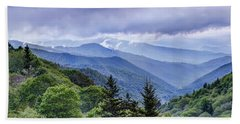 The Mountains Of Great Smoky Mountains National Park Beach Sheet