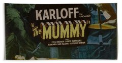The Mummy 1929 Poster Boris Karloff Beach Towel