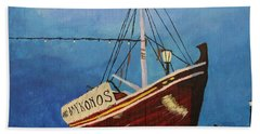 The Mykonos Boat Beach Towel