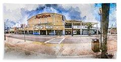 The Myrtle Beach Pavilion - Watercolor Beach Towel