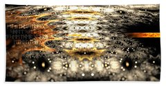 Beach Towel featuring the digital art The Name Of Power by Michal Dunaj
