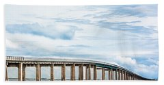 Beach Towel featuring the photograph The Navarre Bridge by Shelby Young
