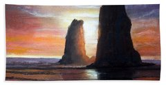 Beach Towel featuring the painting The Needles by Chriss Pagani