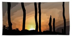 Beach Towel featuring the photograph The New Dawn by Tom Cameron