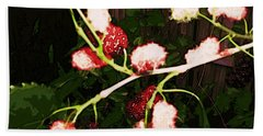 Beach Towel featuring the digital art The New Mulberries by Winsome Gunning