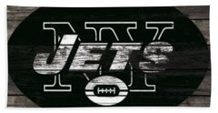 The New York Jets 3h Beach Towel by Brian Reaves