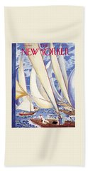 The New Yorker Cover - July 9, 1949 Beach Towel