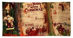 The Night Before Christmas Beach Towel