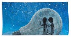 The Night We Broke The Moon Beach Towel