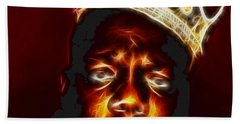 The Notorious B.i.g. - Biggie Smalls Beach Towel by Paul Ward