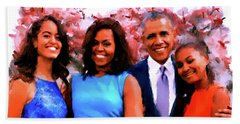 The Obama Family Beach Towel