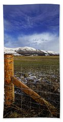 Beach Sheet featuring the photograph The Ochils In Winter by Jeremy Lavender Photography