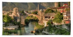 The Old Bridge Of Mostar  Beach Towel