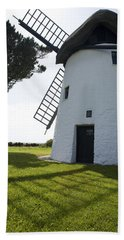 Beach Towel featuring the photograph The Old Irish Windmill by Ian Middleton