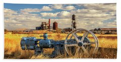 The Old Lumber Mill Beach Towel by James Eddy