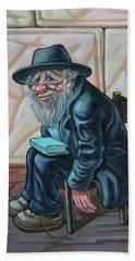 The Old Man Near The Western Wall Beach Sheet