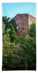 The Old Monastery Of Escornalbou Surrounded By Trees In Spain Beach Towel