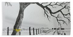 The Old Oak Tree Beach Towel by Jack G Brauer