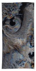 The Old Owl That Watches Beach Towel