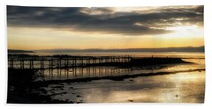 The Old Pier In Culross, Scotland Beach Towel