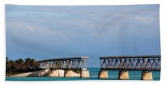 The Old Railroad To The Keys Beach Towel