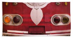 The Old Red Bus Beach Towel