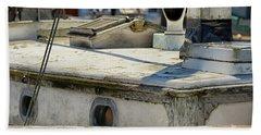 The Old Sail Boat Beach Sheet by Debra Baldwin