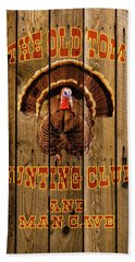 The Old Tom Hunting Club Beach Towel by TL Mair