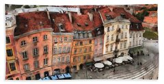 Old Town In Warsaw # 20 Beach Towel