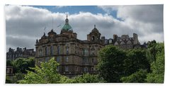 Beach Towel featuring the photograph The Old Town In Edinburgh by Jeremy Lavender Photography