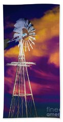 The Old Windmill  Beach Towel by Toma Caul