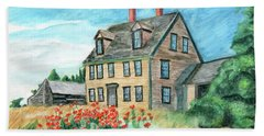 The Olson House With Poppies Beach Sheet