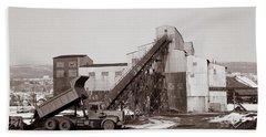 The Olyphant Pennsylvania Coal Breaker 1971 Beach Towel
