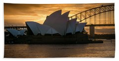 Beach Towel featuring the photograph The Opera House by Andrew Matwijec